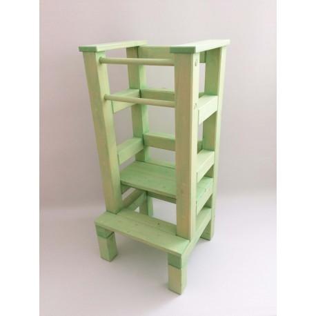 Učící věž – zelená lazura