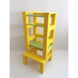 Učící věž - zelenožlutá barva