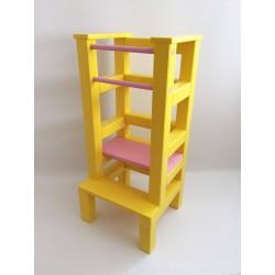 Učiaca veža – ružovožltá farba