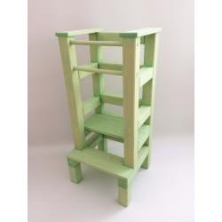Učící věž - zelená lazura s povrchovým lakem