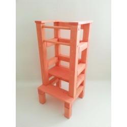 Učící věž - růžová lazura s povrchovým lakem