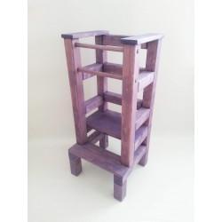 Učící věž - fialová lazura s povrchovým lakem