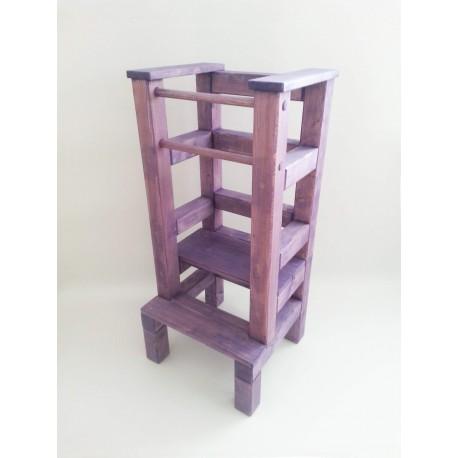 Učiaca veža - fialová lazúra s povrchovým lakom