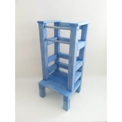 Učící věž - modrá lazura s povrchovým lakem