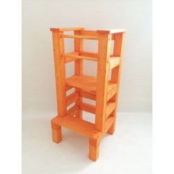 Učící věž - oranžová lazura s povrchovým lakem