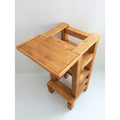 Jídelní stolek na učící věž - lazura s povrchovým lakem
