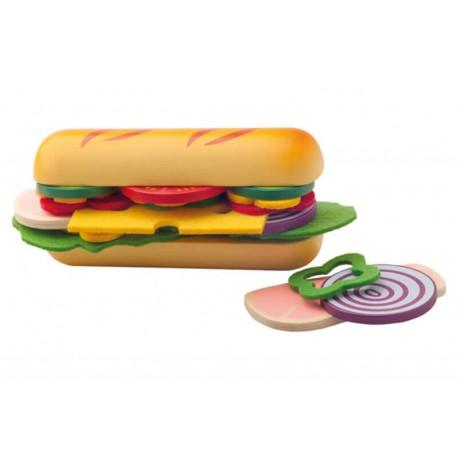 Skladání potravin - bageta