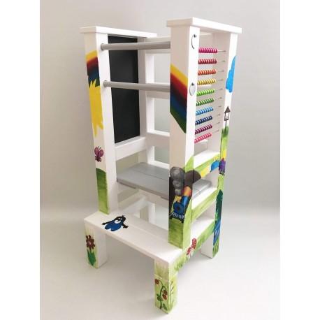 Učící věž - ručně malovaná - Fun