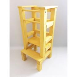 Učící věž - žlutá lazura s povrchovým lakem