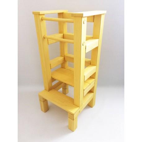 Učiaca veža - žltá lazúra s povrchovým lakom