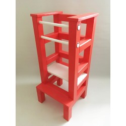 Učiaca veža - bieločervená farba