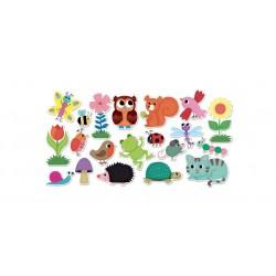 Magnetky na tabuli k učiacej veži - záhrada