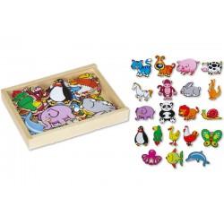 Magnetky na tabuli k učiacej veži - zvieratká 02