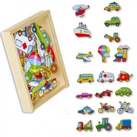 Magnetky na tabuli k učící věži - auta