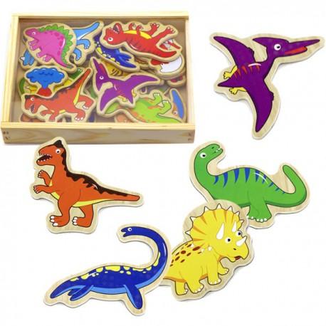 Magnetky na tabuli k učící věži - dinosauri