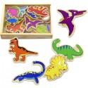 Magnetky na tabuli k učiacej veži - dinosaury