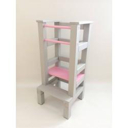 Učiaca veža - růžovošedivá farba