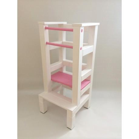 Učící věž - růžovobílá barva