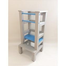Učiaca veža - modrošedivá farba