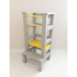 Učiaca veža - žlutošedivá farba
